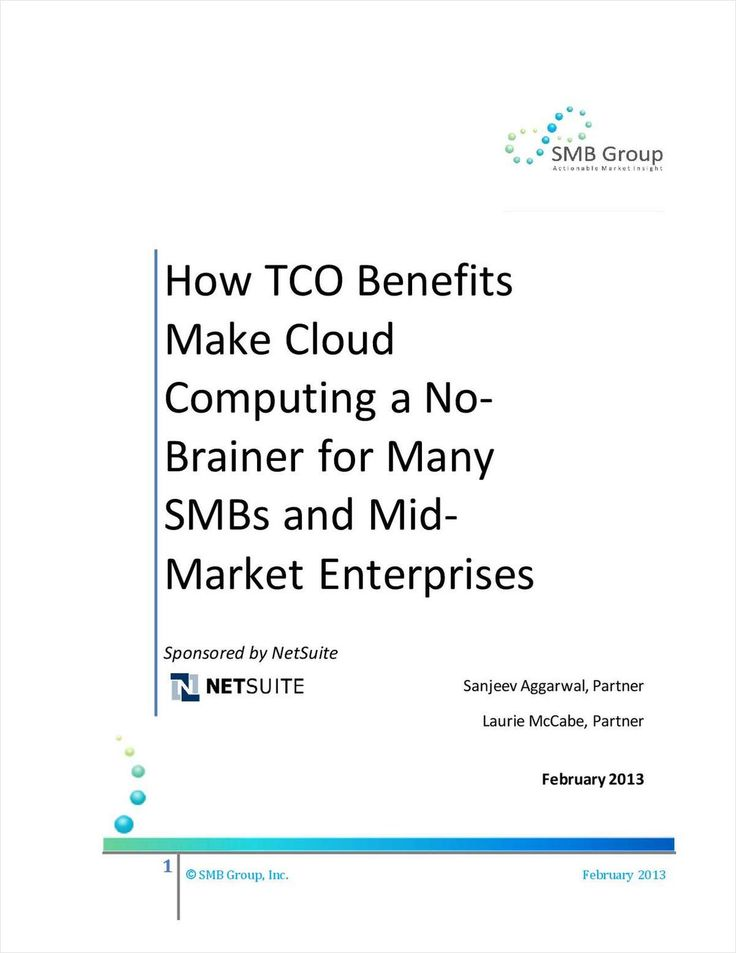 How TCO Benefits Make Cloud Computing a No-Brainer for Many SMBs and Mid-Market Enterprises