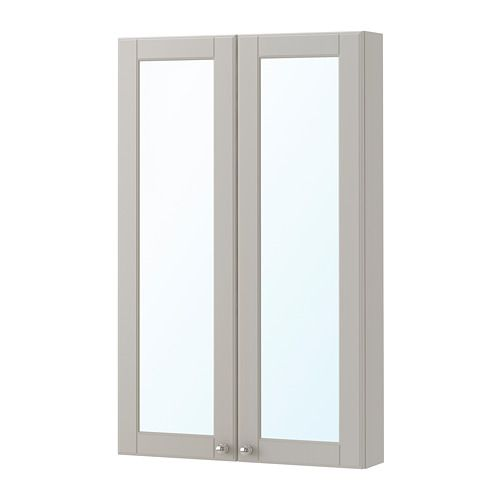Godmorgon Mirror Cabinet With 2 Doors Kasjon Light Gray 23 5 8x5 1 2x37 3 4 Ikea In 2020 Ikea Bathroom Lighting Ikea Godmorgon Bathroom Remodel Small Budget