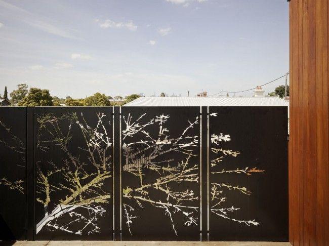 402 best door gate fence images on pinterest decks for Panneau exterieur occultant