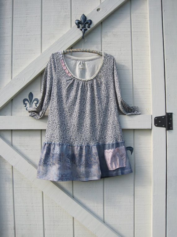 Boho dress L gypsy cowgirl hippie knit tunic by ShabyVintage, $46.90