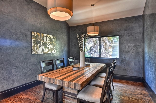 butcher block dining room table | Large butcher block dining table seats eight (six chairs ...