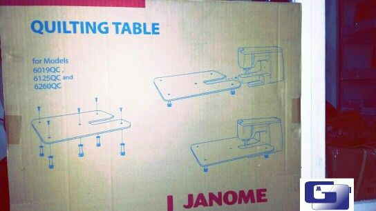 Extention table for models janome 6260qc,big size for quilting area long