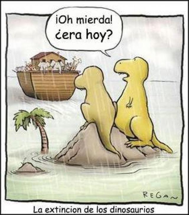 chiste grafico extincion dinosaurios