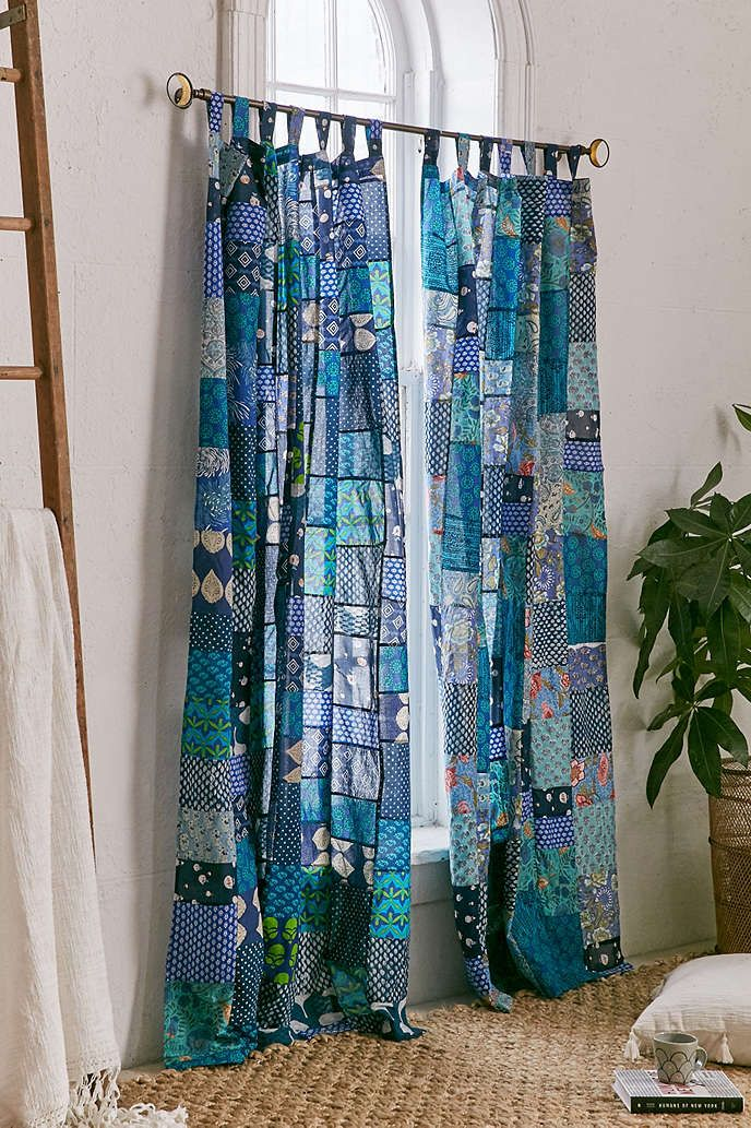 Magical Thinking Patchwork Curtain   Urban Outfitters