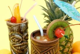 Hawaiian Non Alcoholic Drink Recipes  hawaiian island surfer  pina colada  blue hawaii