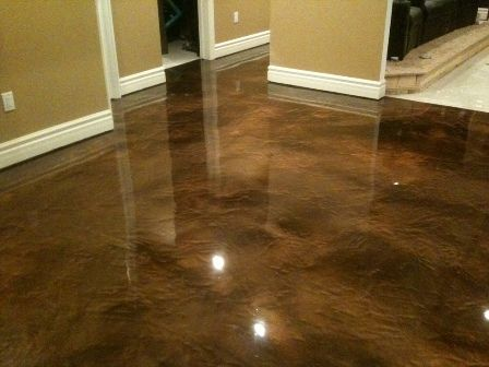 Basement Flooring Epoxy Coating Basement Floor Metalic Brown My Hubby Would Love This