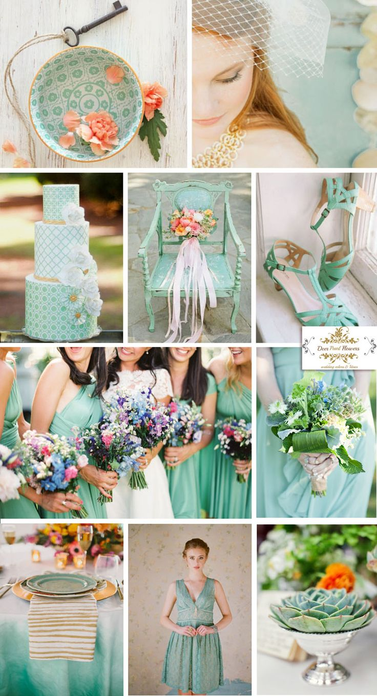 Pantone Lucite Green wedding ideas for spring 2015