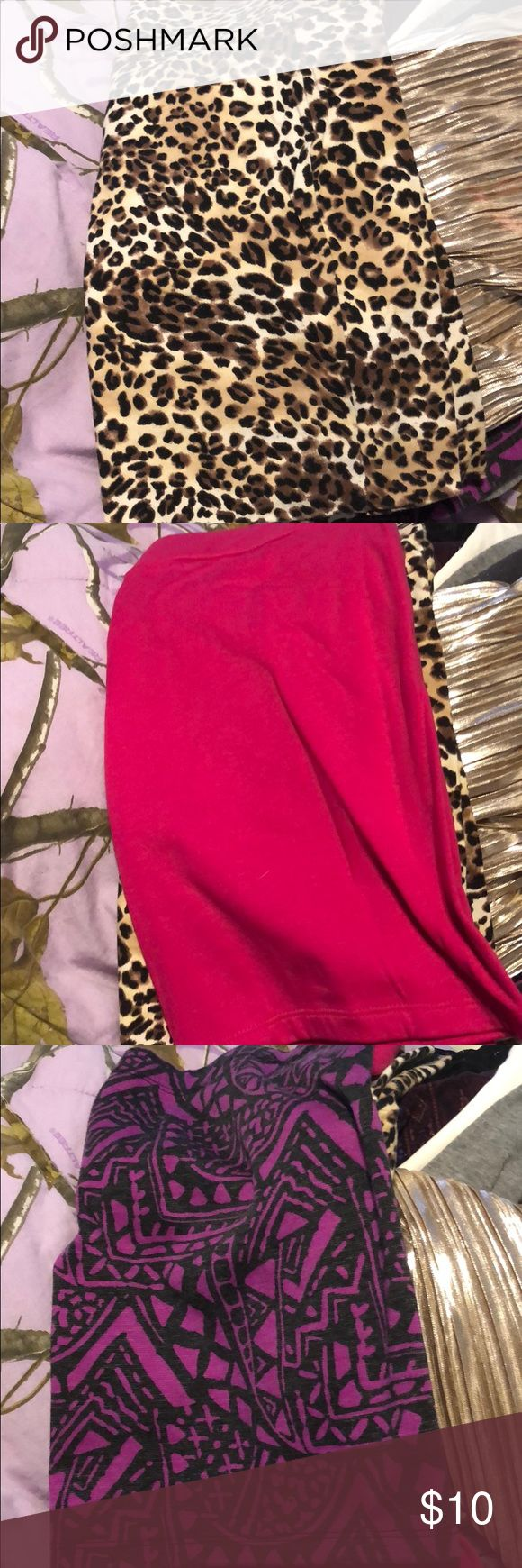 Size large pencil skirt Cheetah designed size large from Charlotte Rousse Skirts Pencil