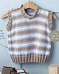 Вязаный спицами детский жилет Smart Stripes
