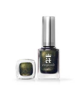 En mørk grønlig base, fyldt med smaragd , guld , oliven -grøn og bronze ultrafine shimmer.  Neglelakken er 3-fri og indeholder 10 ml.