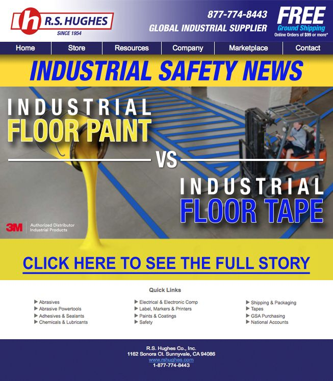 Industrial Safety News: Industrial Floor Paint vs Industrial Floor Tape. Compare the difference of 3M 971 Ultra Durable Floor Marking Tape and traditional floor paint at the link below.