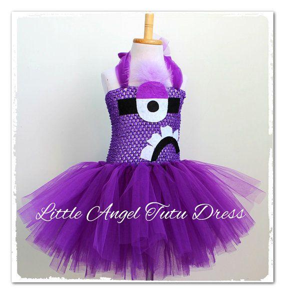 $35.70 USD Evil Purple Minion Despicable Me 2 by LittleAngelTutuDress on Etsy