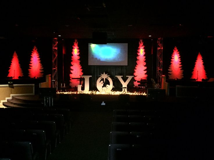 Coro Trees from Legacy Church of God in Wichita Falls, TX | Church Stage Design Ideas
