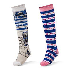 Ladies Knee High Star Wars Socks at thinkgeek.com!!!  They have men's socks too!  (I'd wear them.)