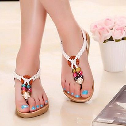 affordable summer sandals and wedges | new 2014 summer shoes Slippers Wedges sandal casual woman sandals ...