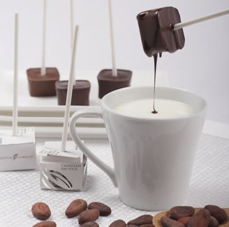 Boil 200ml of Milk -full cream, low-fat or skim. Pour it into a cup, Stir in your Chocolate Dip Stick for your daily cocoa fix!      Chocolate Dip Stick Rp.8.500,-