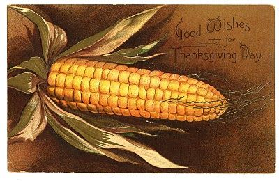 Vintage Thanksgiving card.   graphicsfairy.blogspot.com