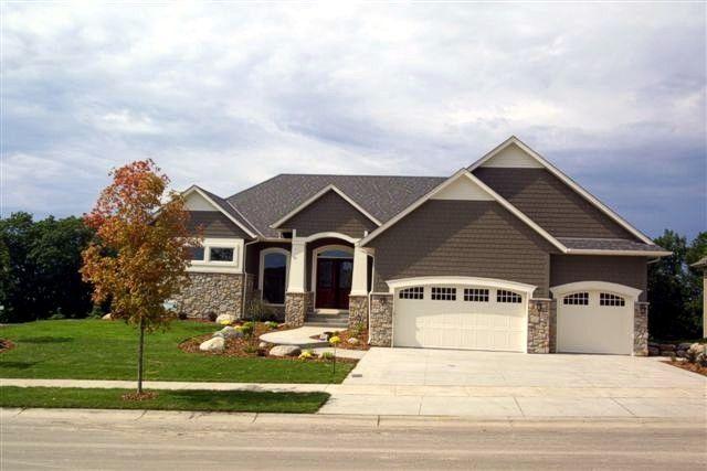 rambler styled home featuring a 3 car garage exterior of home pinterest. beautiful ideas. Home Design Ideas