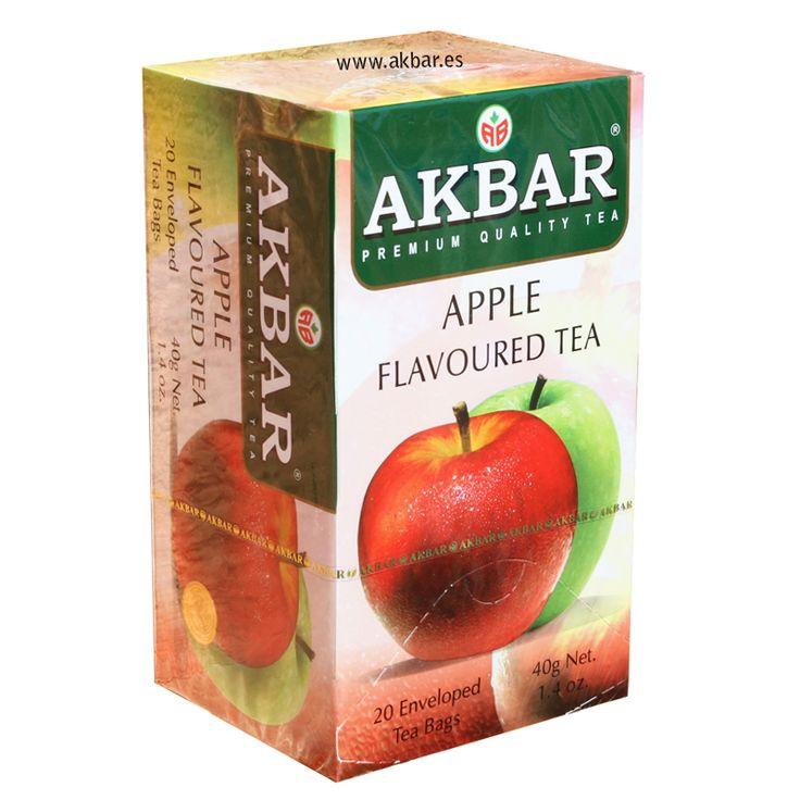 Té negro Akbar con sabor a manzana