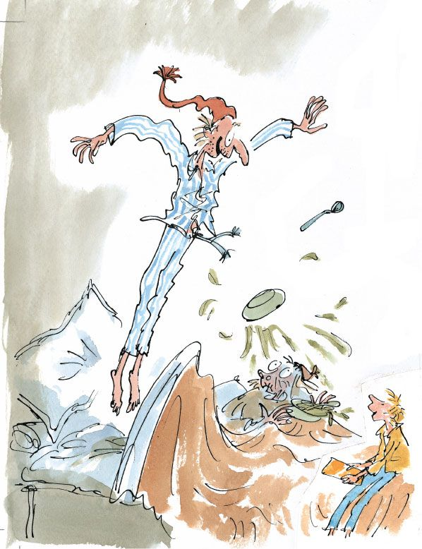 Quentin Blake Charlie and the chocolate factory illustration