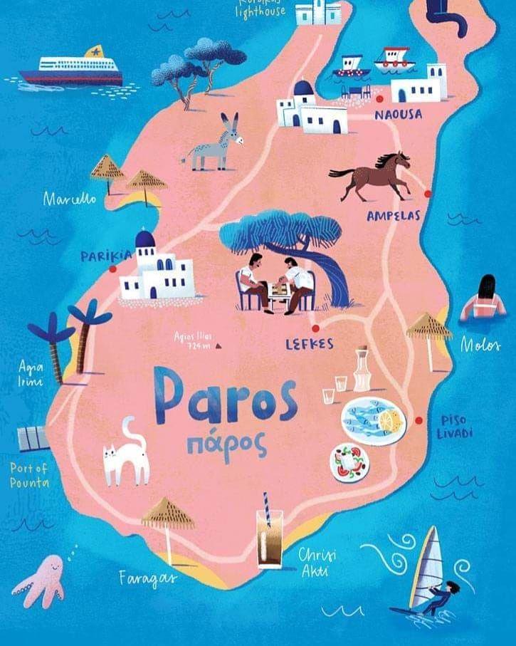 Paros In 2019 Greek Islands Map Paros Greece Paros