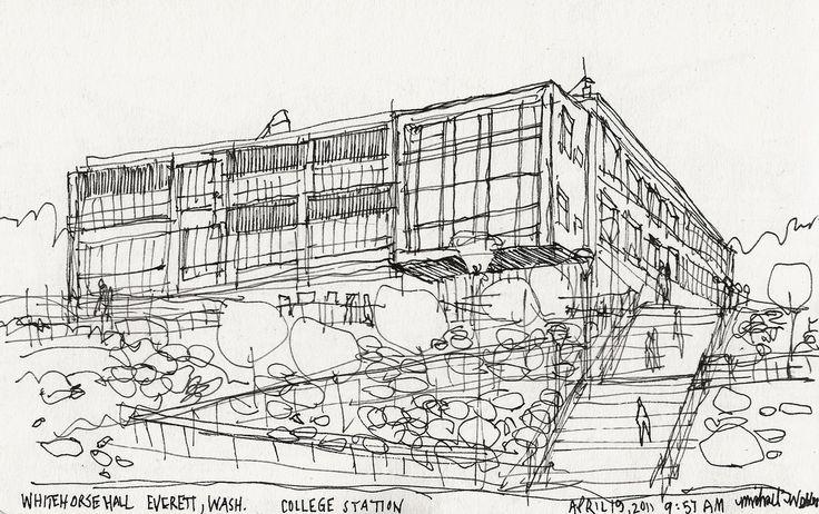 https://flic.kr/p/9Ek9cm   Whitehorse Hall   Everett Community College, Everett, WA, USA