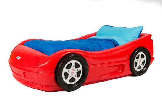 Peuterbed Kinderbed Little Tikes Racewagen