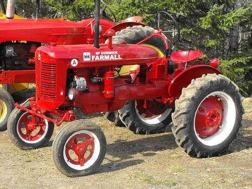 Old Farmall tractors.This is a Farmall Super A
