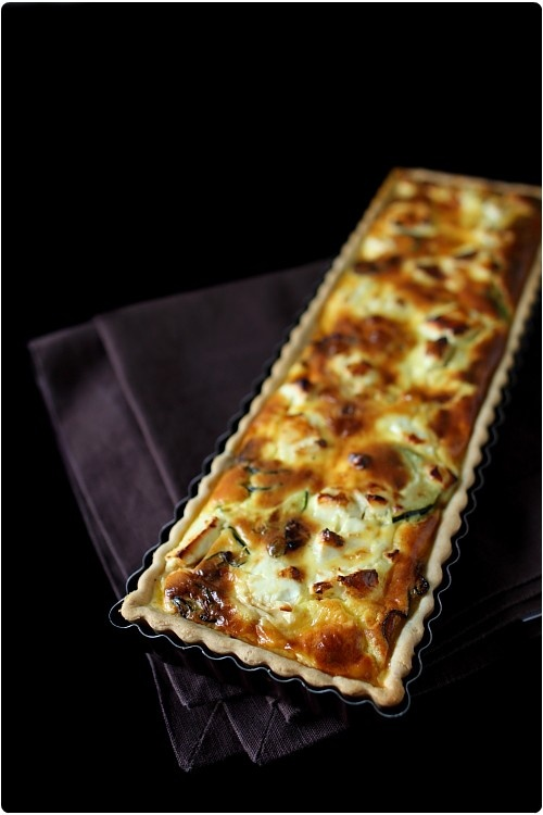 tarte la courgette et feta recette chefs et feta. Black Bedroom Furniture Sets. Home Design Ideas