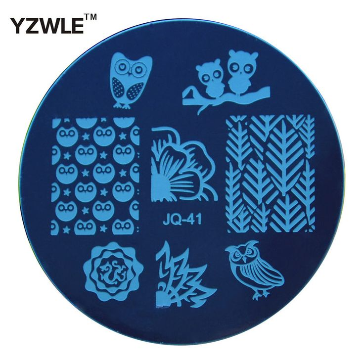 YZWLE 1 Pcs Stainless Steel Plate Image Stamp Stamping Plates DIY Manicure Template Nail Polish Tools (JQ-41)