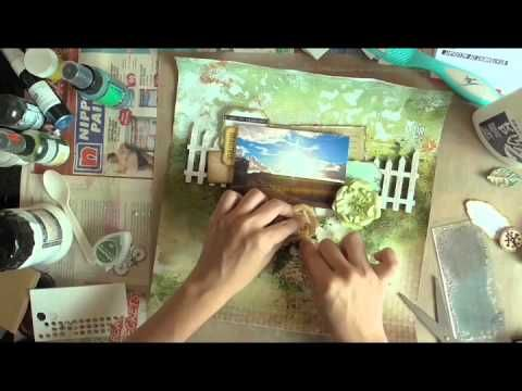 Mixed Media Layout tutorial - YouTube