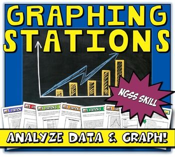 NGSS aligned for middle school grades 6-8 Practice 4: Analyzing and interpreting data. These graphing stations are a great way to get students to interact with the different forms of data. The graphing notes are a great resource for students to refer to as they work through the station activities.