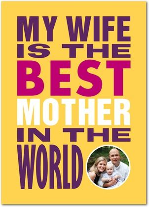 My Wife Rules - Mother's Day Greeting Cards - Magnolia Press - Mustard - Yellow : Front