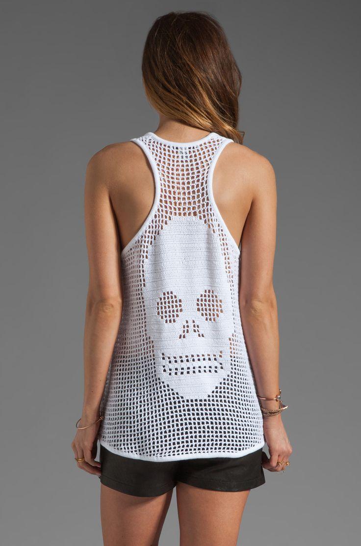 Autumn Cashmere Hand Crochet Skull Tank em Branco | REVOLVE