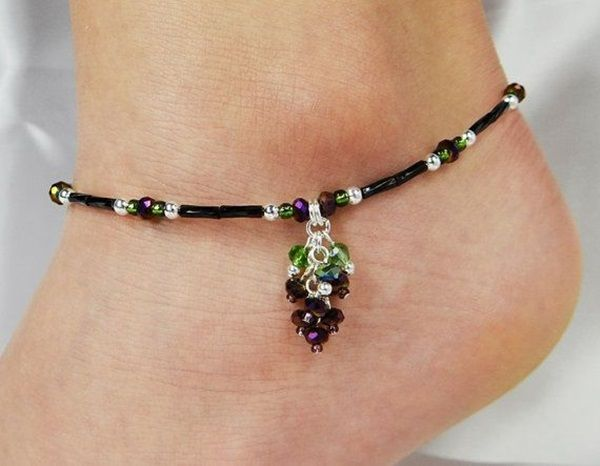 how to make beaded anklets at home