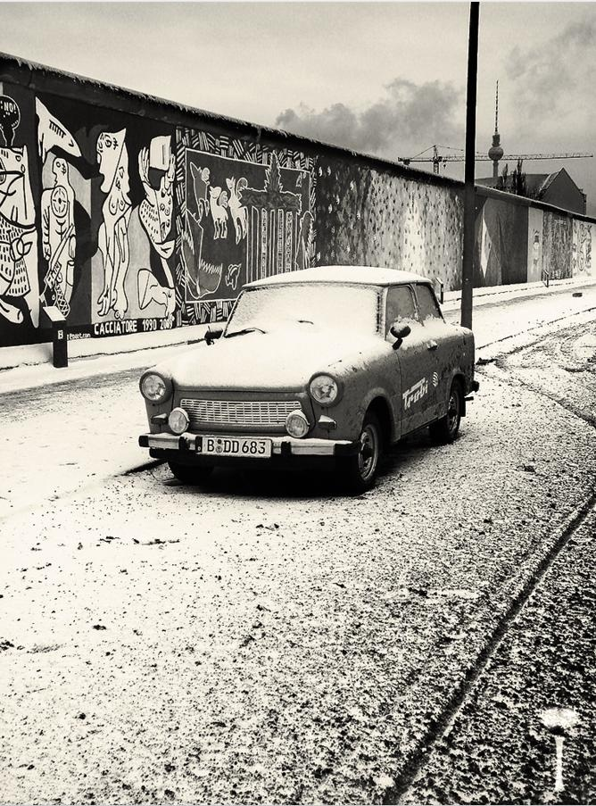 Trabant - Berlin. An iconic car in Eastern Europe during the Cold War.