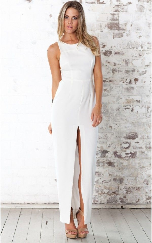 women solid dress white maxi casual women dress sleeveless ankle-length women dress 2016 new style women bodycon dresses alishoppbrasil