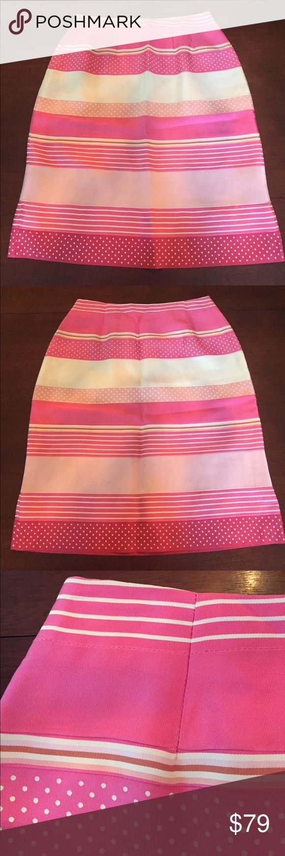 J. McLaughlin Grosgrain Ribbon Skirt This lovely a-line skirt made in the US by J. McLaughlin  is made from multiple rayon grosgrain ribbons. Fully lined. Worn once. J. McLaughlin Skirts Midi