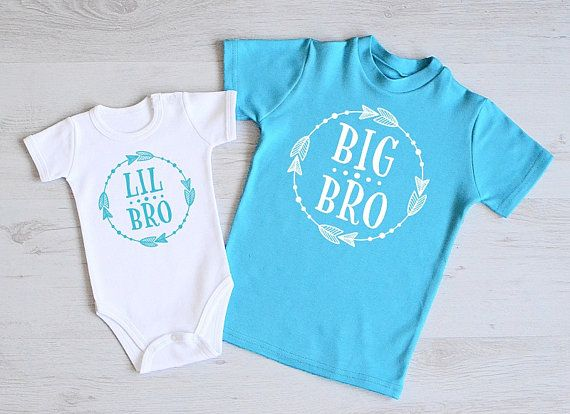 Matching Big Brother Little Brother Shirts. Cute Brother