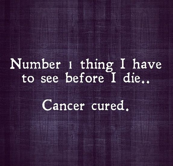 Cure cancer.
