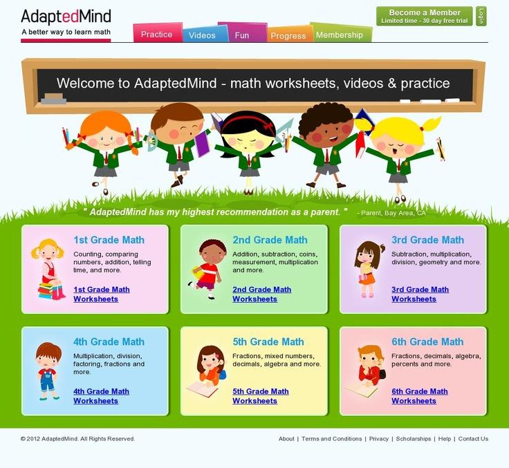 math worksheet : 1000 images about math worksheets on pinterest  free math  : Adaptedmind Math Worksheets