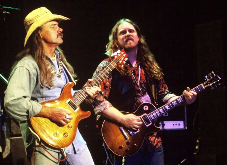 ...Brothers... Dickey Betts and Warren Haynes on stage with The Allman Brothers Band at the Shoreline Ampitheater in Mountainview, CA. July 31, 1994.