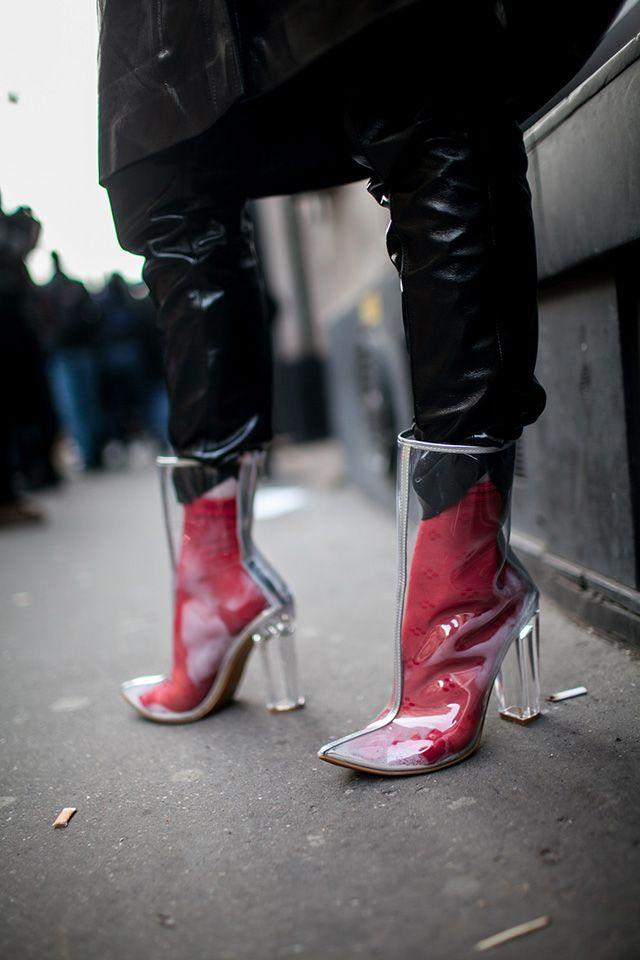 ebc672c82dd Bella Hadid Took Clear PVC Shoe Trend For A Test Drive | Street ...