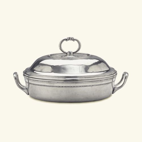 Toscana Pyrex Casserole Dish with Lid by Match Pewter