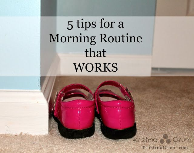 5 tips for a morning routine that works