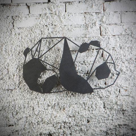 Metal Plaka - Panda ev dekorasyonu,dekorasyon fikirleri,duvar dekorasyonu,iç dekorasyon,ofis dekorasyonu,metal dekoratif ürün,geometrik,geometrik panda,sevimli,hediye,hediye fikirleri,tasarım www.hoagard.com