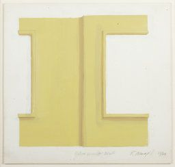 Robert Mangold American, born 1937, Yellow Window Wall