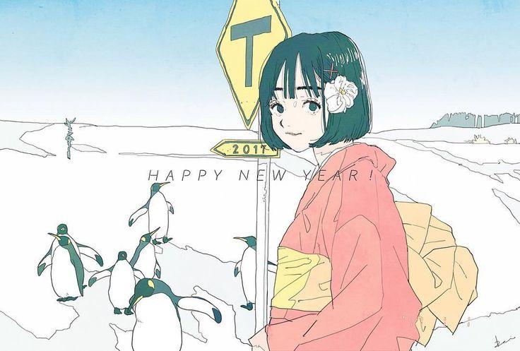 HAPPY NEW YEAR ! 2017 今年もどうぞよろしくお願いいたします! #illustration #artwork #drawing