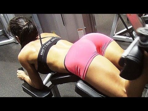 Womens Big Butt Building Gym Workout Part 4