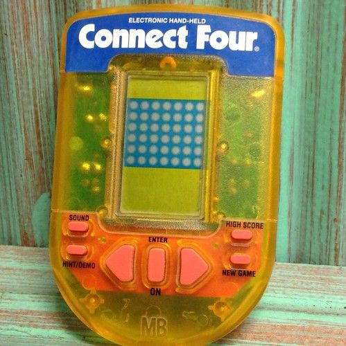 Electronic Handheld Game Connect Four 4 Pocket Travel Adult Kids Hand Held